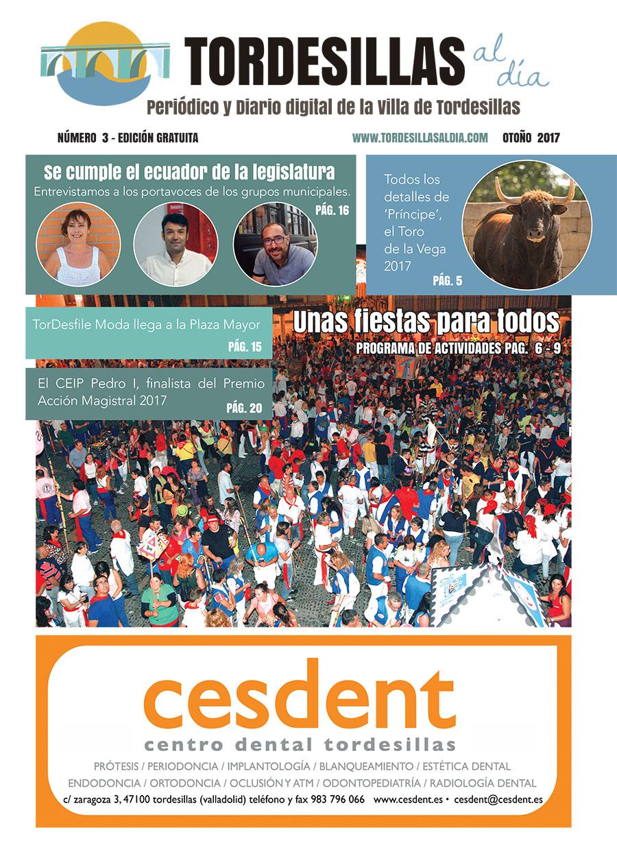 Portada de la tercera edición de la revista Tordesillas al día