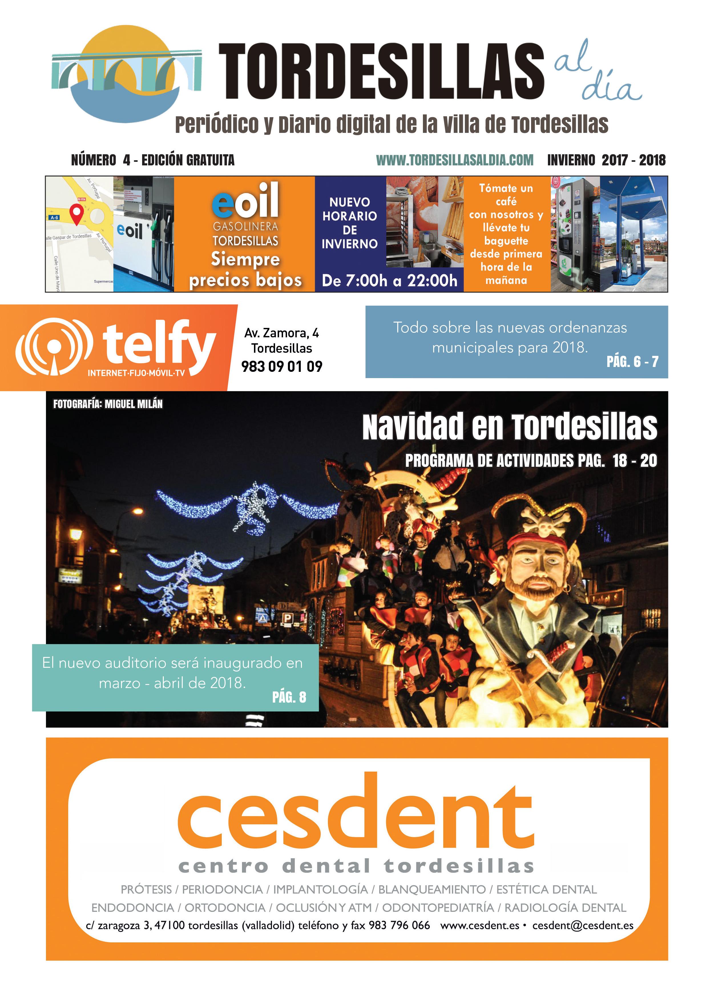 Portada de la cuarta edición de la revista Tordesillas al día