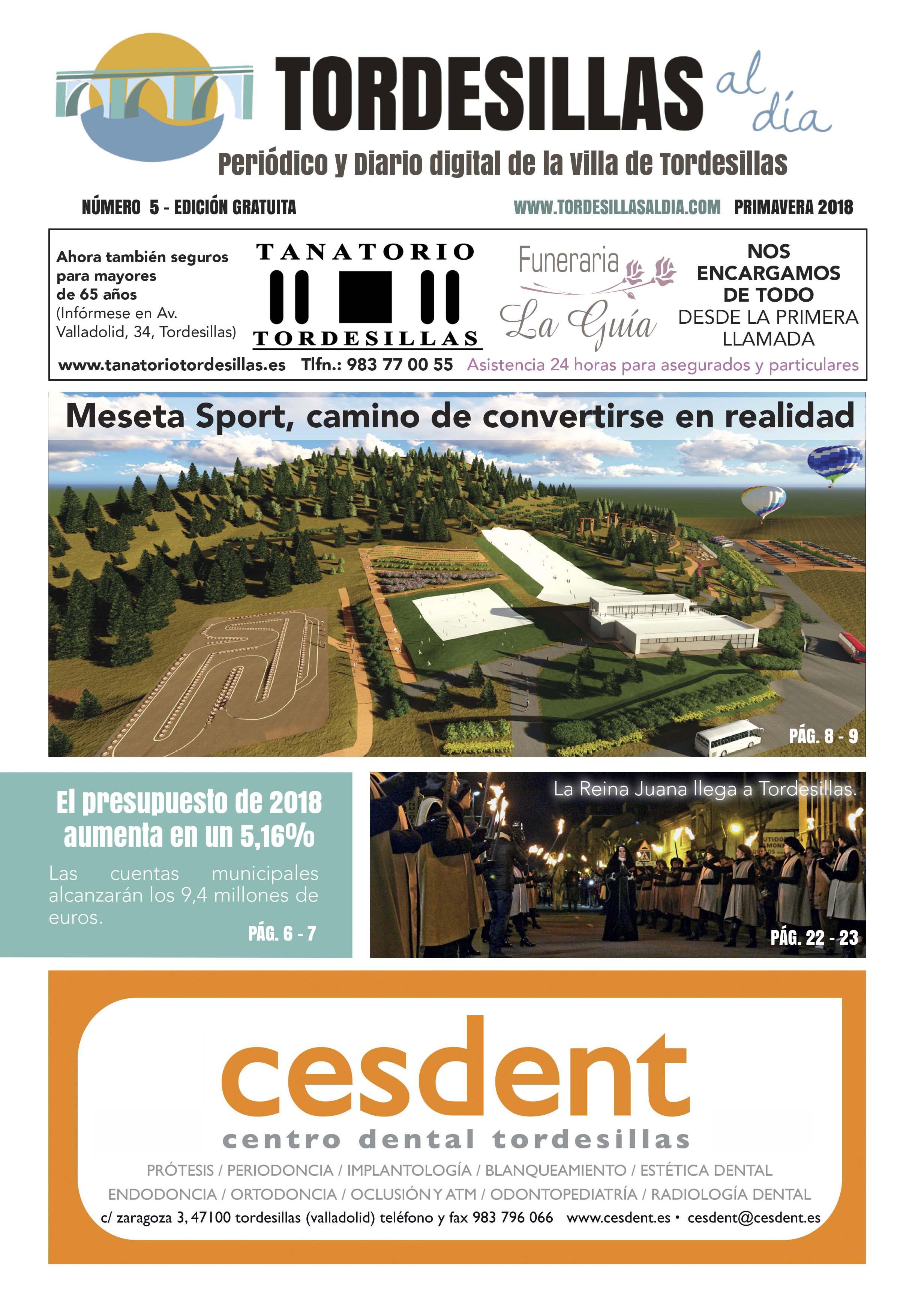 Portada de la quinta edición de la revista Tordesillas al día