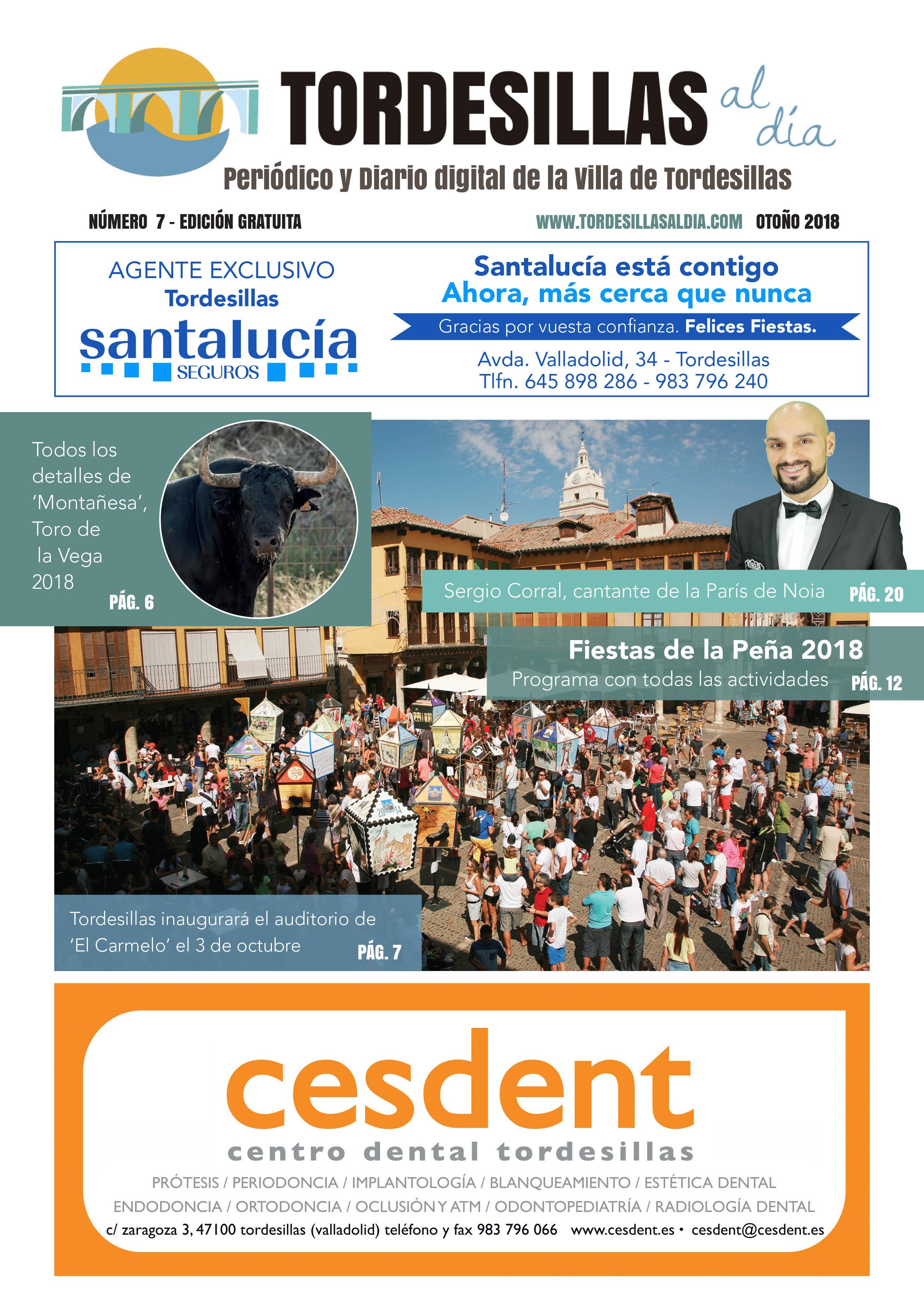 Portada de la séptima edición de la revista Tordesillas al día
