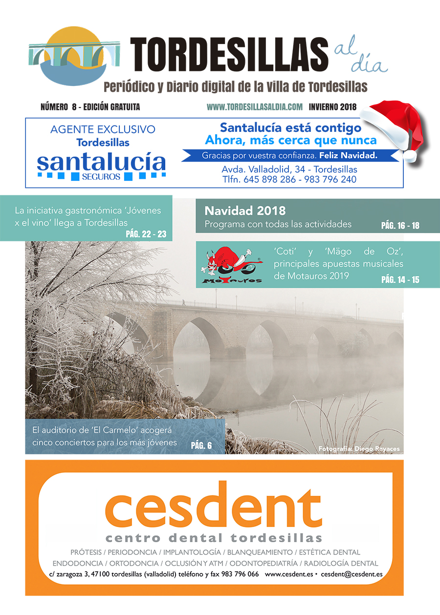 Portada de la octava edición de la revista Tordesillas al día