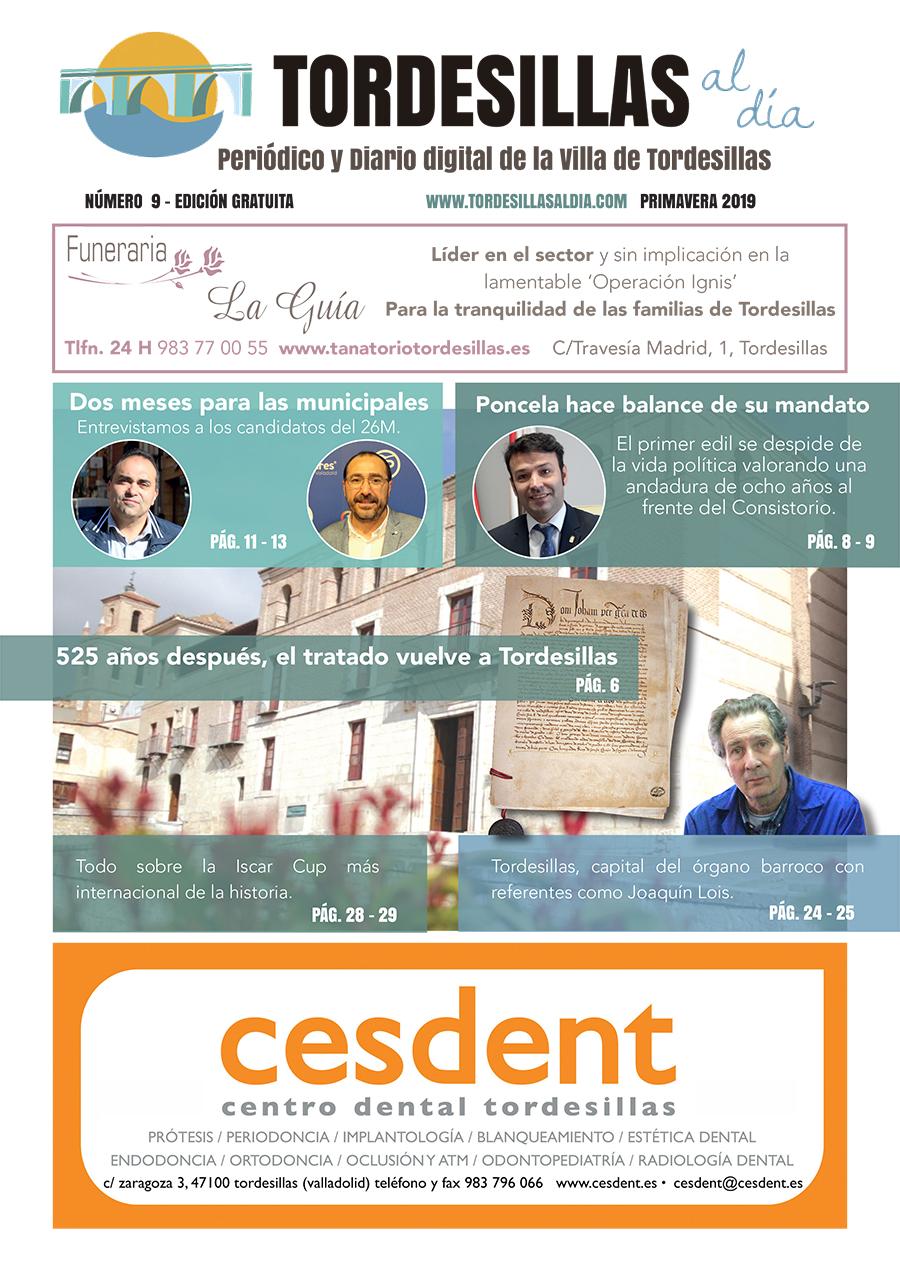 Portada de la novena edición de la revista Tordesillas al día