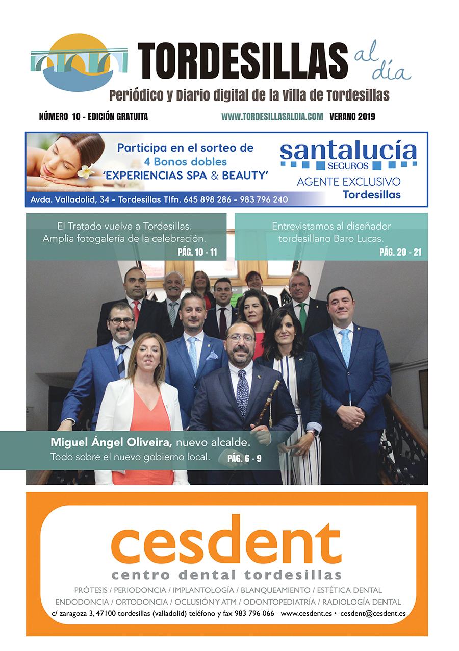 Portada de la décima edición de la revista Tordesillas al día